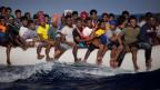 Neben 280'000 ausländischen Flüchtlingen sind auch etwa 350'000 Libyer selber vor den Wirren des Bürgerkriegs auf der Flucht.