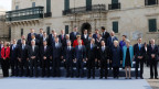 Gruppenbild der EU-Politiker am EU-Gipfel in Valletta, Malta.