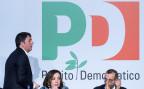 Der frühere italienische Premierminister Matteo Renzi am Kongress seines partito democratico, PD