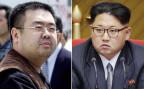 Portraits von Kim Jong Nam (links), der in Malaysia ermordet wurde - und sein Halbbruder Kim Jong Un (rechts), der derzeitige Diktator Nordkoreas