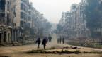 Bild der Zerstörung in Aleppo. Wie geht es in Syrien weiter?