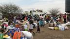 Empfangsstelle des Flüchtlingslagers Kakuma im Norden Kenias.