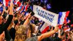 In Frankreich stockte EU-Befürwortern und -Befürworterinnen in den Wochen vor der Präsidentschaftswahl  ab und zu der Atem: Marine Le Pen vom Front National wünscht sich den «Frexit», den Austritt Frankreichs aus der EU. Bild: Wahlveranstaltung am 5. Februar in Lyon.
