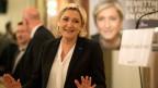 Die Vorsitzende des rechtsextremen Front National Marine Le Pen an einer Wahlveranstaltung.
