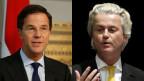 Wahlen in den Niederlanden: Der Rechtspopulist Geert Wilders (rechts) und der rechtsliberale Premierminister Mark Rutte.