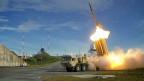 Test einer der US-THAAD-Raketen, die neu in Südkorea stationiert sind.