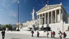 Parlamentsgebäude an der Ringstrasse in Wien.