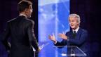 Traten erstmals gegeneinander an: Premierminister Mark Rutte (links) und sein Herausforderer Geert Wilders