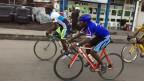 Der Goma Cyclist Club beim täglichen Training.