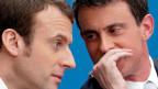 Ex-Premier Manuel Valls (rechts) und Präsidentschaftskandidat Emmanuel Macron.