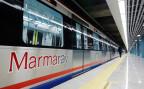 Der neue Marmaray-Zug, der den Bosporus unterquert. Eines der vielen Infrasturkturprojekte der Regierung Erdogan, kurz vor seiner Eröffnung