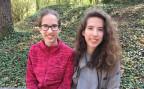 Viera und Ivana Klasovita, die beiden Schweizer Vertreterinnen an der Europäischen Mathematik-Olympiade in Zürich.