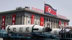 Militärparade in Nordkorea am 15. April 2017