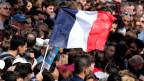 Die erste Wahlrunde findet am Sonntag, 23. April statt; die Stichwahl am 7. Mai. Bild: Supporter von Jean-Luc Melenchon in Toulouse.