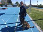 Polizeihund Zico an der Meisterschaft