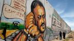 Marwan Barghouti wird in Palästina als Held verehrt. Graffiti aus dem Jahr 2011.