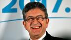 Der sozialistische Präsidentschaftskandidat Jean-Luc Mélenchon. Er trat in der ersten Runde der Präsidentschaftswahl am 23. April 2017 im Namen der von ihm dafür gegründeten Partei La France insoumise an.