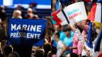 Der letzte grosse Auftritt für Marine Le Pen und Emmanuel Macron.