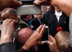 Emmanuel Macron auf Wahlkampf in Südfrankreich