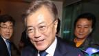 Moon Jae In erklärt sich zum Sieger der Präsidentenwahl in Südkorea