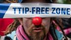 Protest gegen das Freihandelsabkommen TTIP in Brüssel.