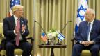 Der US-Präsident Donald Trump trifft sich mit dem israelischen Präsidenten Reuven Rivlin in Jerusalem.