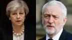 Theresa May, Grossbritanniens Premier-Ministerin und Jeremy Corbyn, Grossbritanniens Labour-Parteichef.