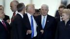US-Präsident Trump am Nato-Gipfel in der ersten Reihe.