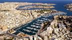 Jacht-Hafen bei Valletta auf Malta.