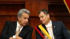 Lenin Moreno (links) wird es nicht leicht haben fortzuführen, was Rafael Correa  (rechts) in Ecuador begonnen hat.