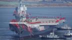 Chinas erster im Inland gebauter Flugzeugträger während seiner Start-Zeremonie in Dalian, China.