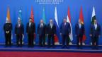 Die Mitglieder der Shanghai Cooperation Organization (SCO) in Astana, Kasastan, am 9. Juni 2017.