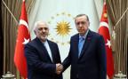 Der türkische Präsident Erdogan bei einem Treffen mit dem iranischen Aussenminister Zarif in Ankara.
