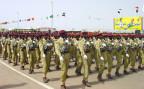 Sudanesische Truppen bei einer Militärparade.