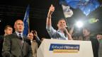 Der Kandidat für das Amt des Premierministers, Ramush Haradinaj, feiert in Pristinaden Wahlsieg.