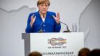 Angela Merkel bei der Eröffnung der G20 Afrika-Partnerschaftskonferenz.