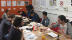 Studierende an der der école parisienne des arts graphiques et narratifs in Paris.
