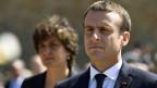 Der französische Präsidentschaftskandidat Emmanuel Macron, der im ersten Wahlgang am meisten Stimmen erhielt.
