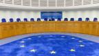 Grosser Saal im europäischen Gerichtshof für Menschenrechte in Strassburg.