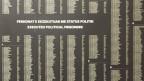 Naemnsliste von 6000 hingerichteten politischen Häftlinge im Sigurimi-Museum  in Tirana/Albanien.
