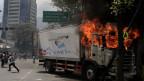 Proteste in Venezuelas Hauptstadt Caracas.