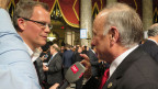 Beat Soltermann an einem Interview im US-Kongress.