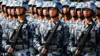 Militärparade in Hongkong.