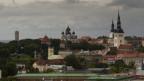 Die Skyline von Tallinn, der estnischen Hauptstadt.