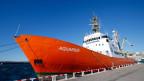 Die Aquarius, eines der beiden Rettungsschiffe von Médecins sans Frontières MSF.