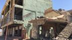 Zerstörung im Jesidenstädtchen Bashika in der Ebene von Mosul.