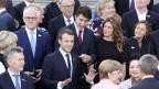 Hohe Staatsvertreter unter sich kurz vor dem Konzert in der Elbphilharmonie in Hamburg anlässlich des G20-Gipfels.