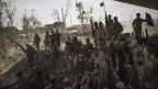 Irakische Soldaten feiern ihren Sieg in Mossul.