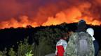 Waldbrände in Montenegro in der Nähe der Adriaküste.