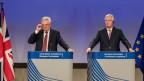 David Davis, britischer Staatssekretär (links) und Michel Barnier, EU-Chefverhandler.